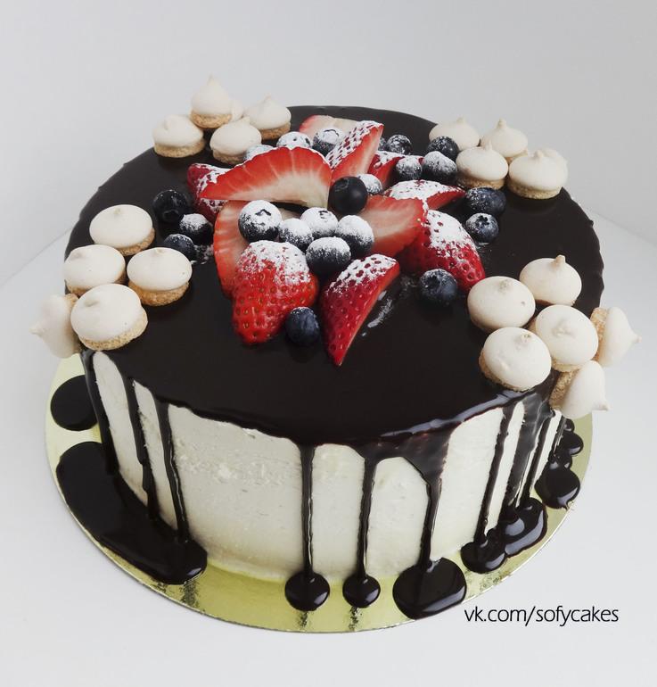 Украшение глазури и крема торт