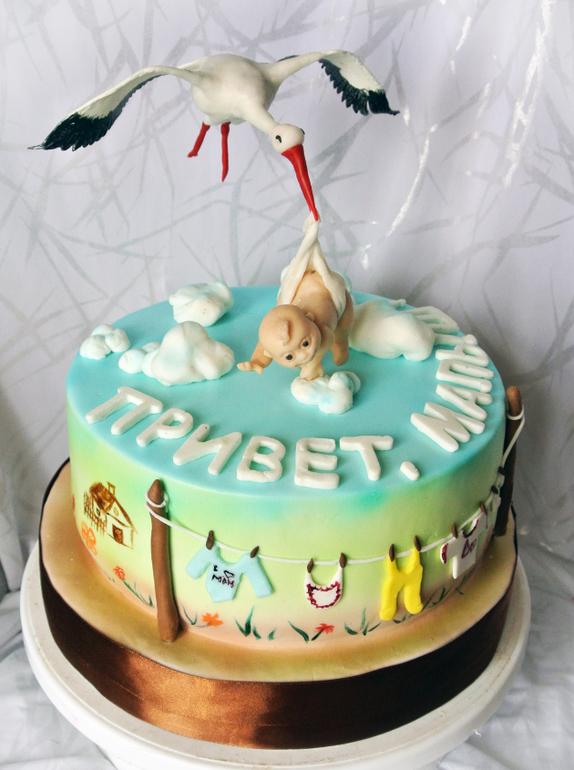 торт на выписку из роддома фото