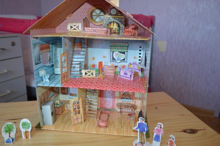 Как сделать домик для кукол барби своими руками из коробки или картона 80