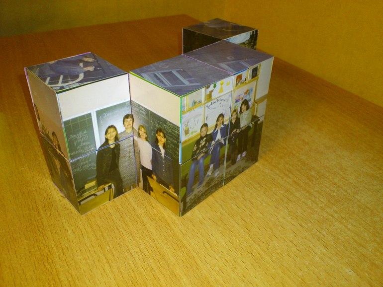 Фотокубик-трансформер 8х8х8 из 12 фотографий.