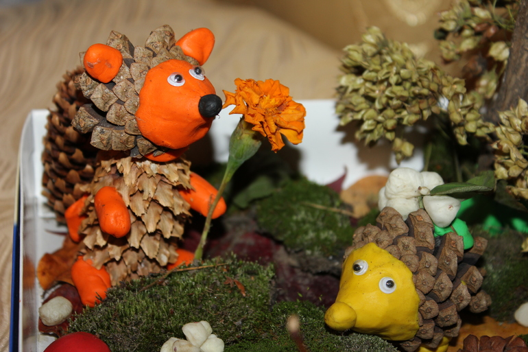 Сделать поделку в сад на тему осень