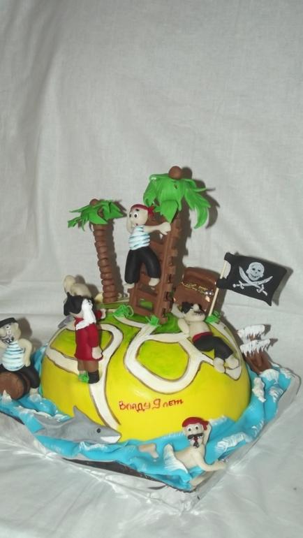 Торт на пиратскую вечеринку. 3,2кг.