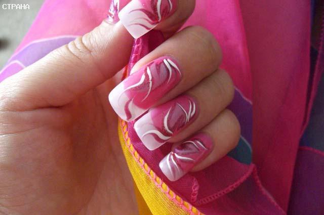 Рисунки на ногтях.схемы