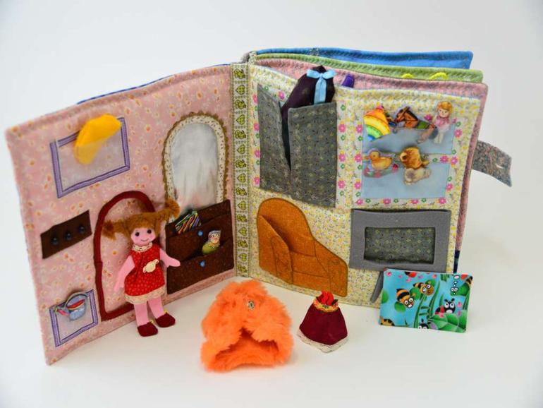 Мягкий домик для кукол