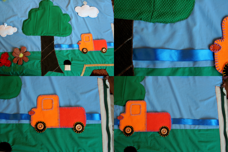 Сенсорный коврик для детей своими руками 36