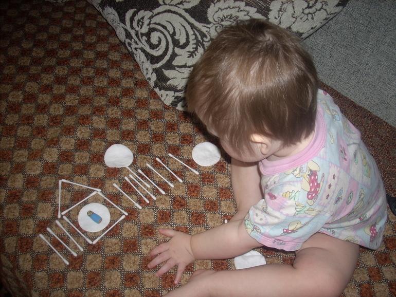 Идея игр с ватными палочками и дисками