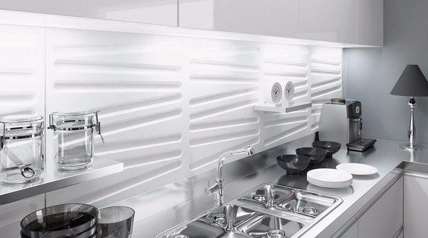 панели 3 д на кухне фото