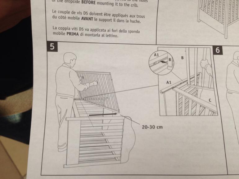 инструкция по сборке кроватки pali lisa