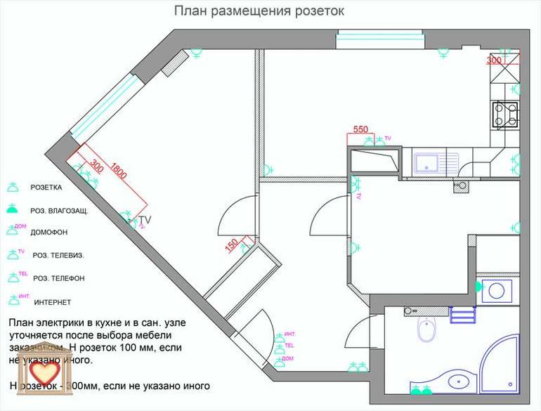 Дизайн однокомнатной квартиры в Сестрорецке