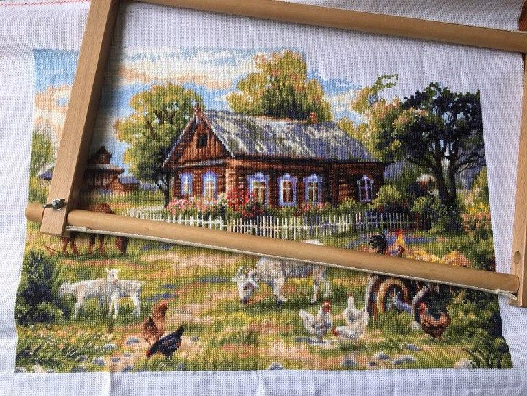 Моя деревня вышивка лето 879