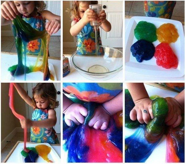 Как сделать лизуна из воды и краски и соли