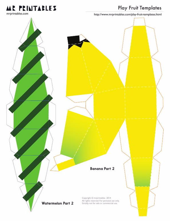 Как сделать бананы из бумаге