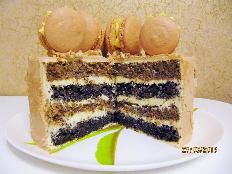 рецепт торта с орехами под мастику с фото