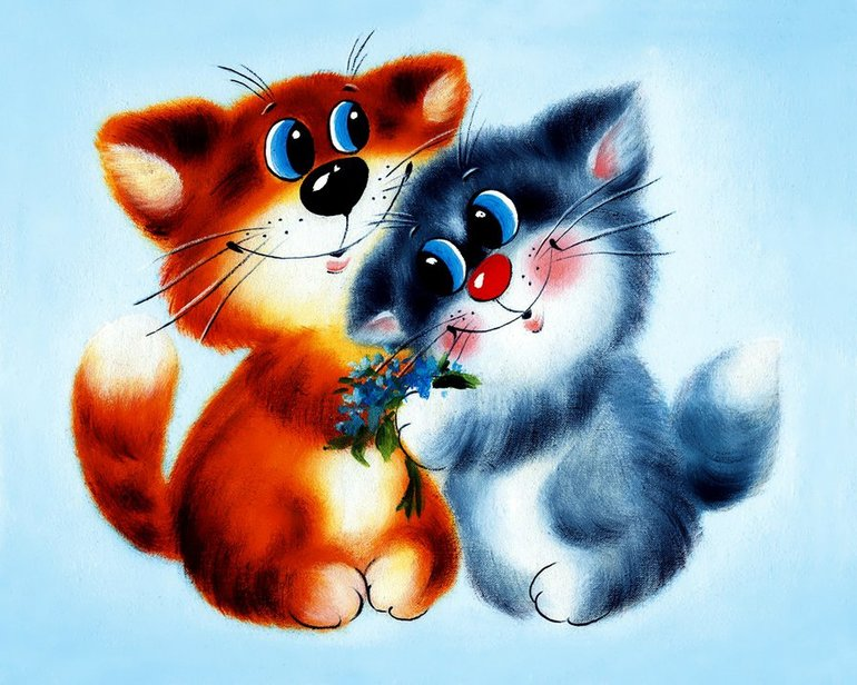картинки котики мур