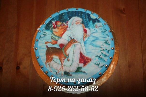 Фотографии тортов с новогодним рисунком