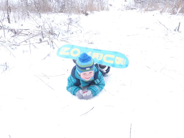 Мой  маленький  сноубордист.