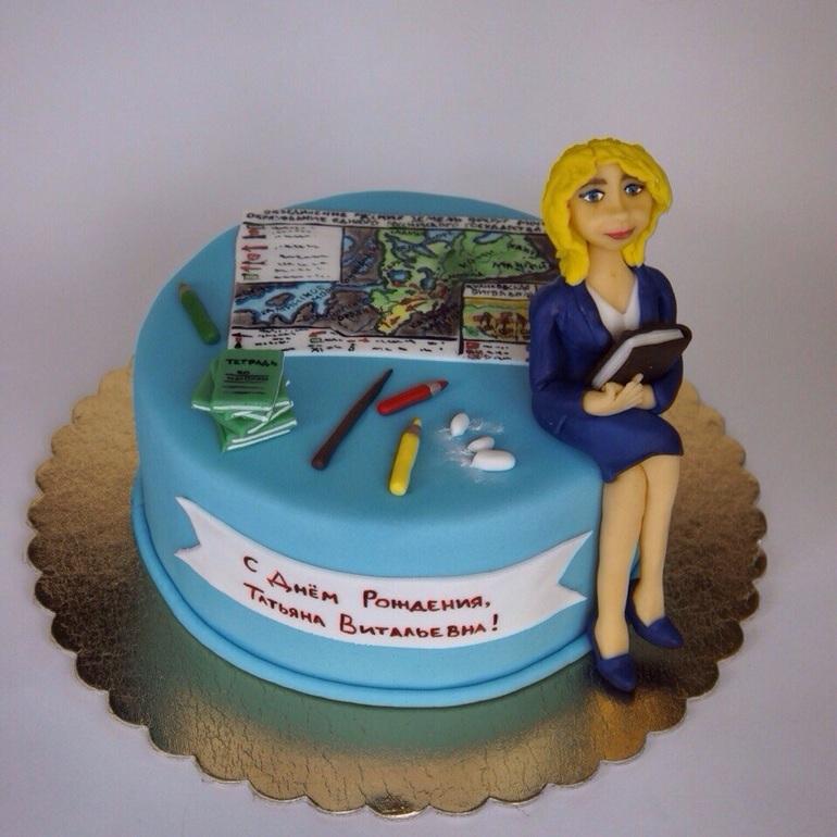 торт с учительницей фото
