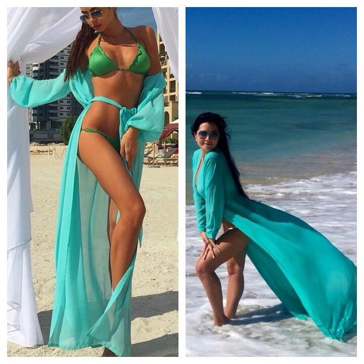 Пляжные Платья В Пол Шифоновые