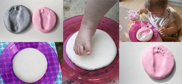 Рецепт соленое тесто для отпечатков ручек и ножек
