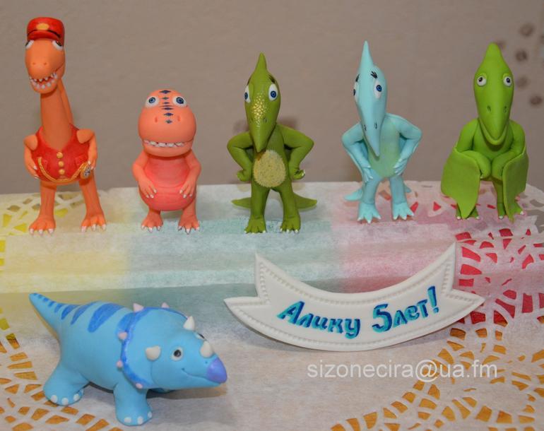 Как из мастики сделать динозавров 760