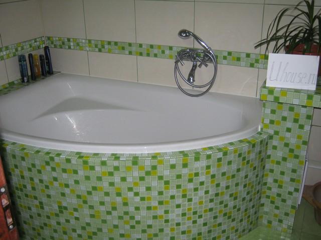 Как собрать экран под ванну радиусный