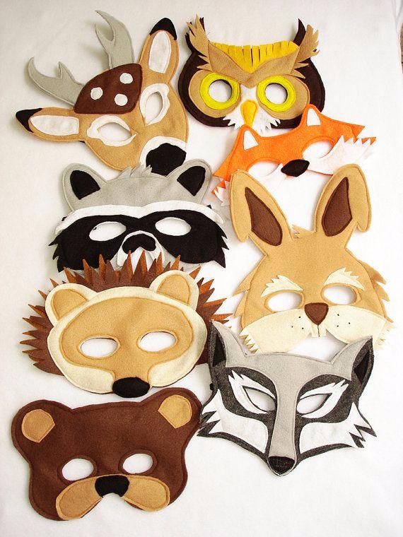 Новогодняя маска животного своими руками
