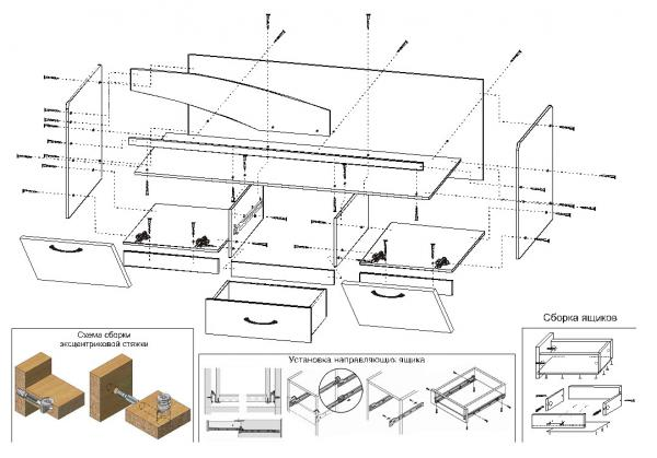 Схема сборки кровати дельфин фабрики