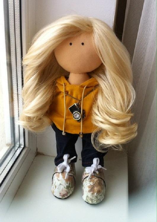 как кукле большеножке приклеить волосы