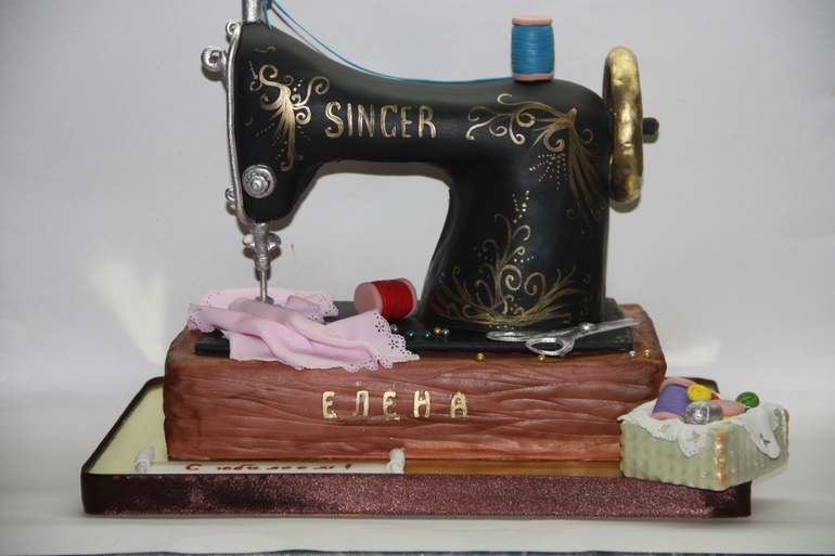 Торт швейная машина фото