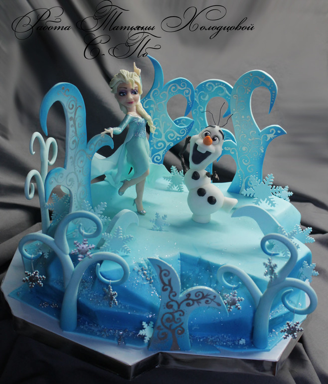 Торт холодное сердце своими руками рецепты фото