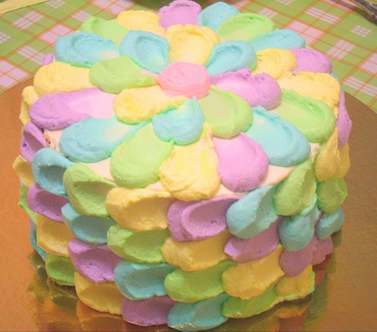 Как сделать радужный торт в домашних условиях
