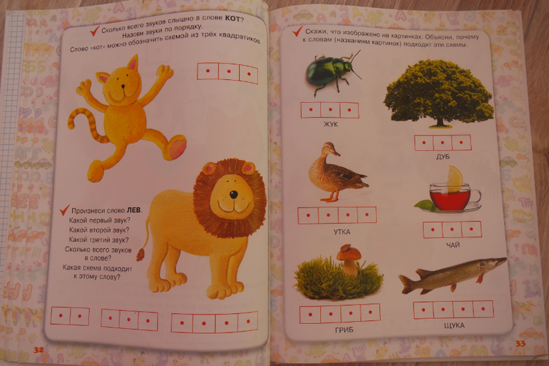 Схема слова лев 1 класс
