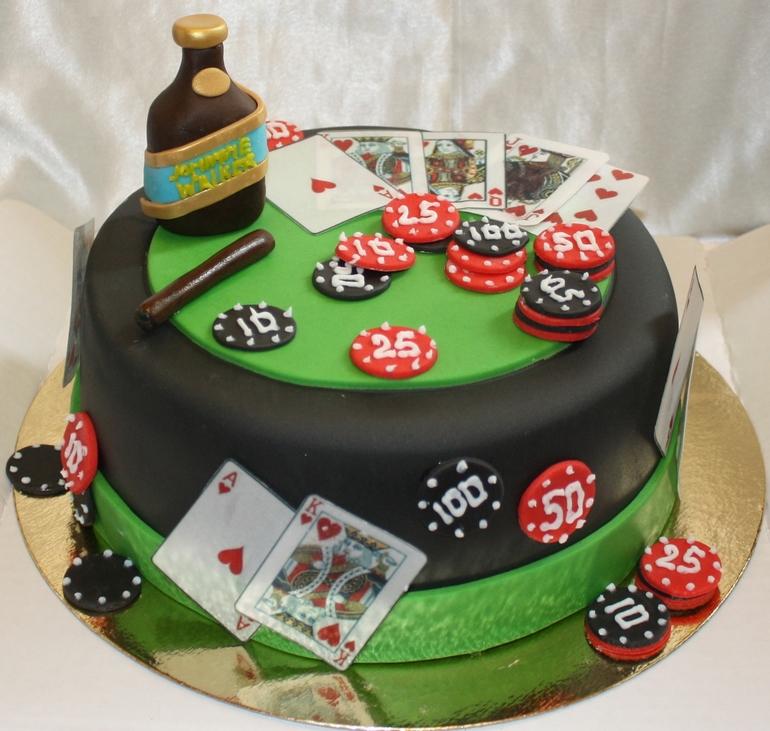 Фото тортов для мужчин покер