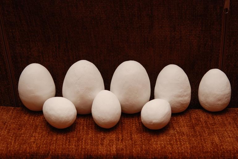 Как сделать и папье маше яйцо 220