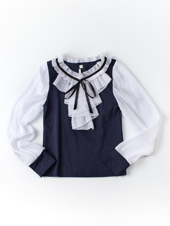 Школьная Блузка Синяя