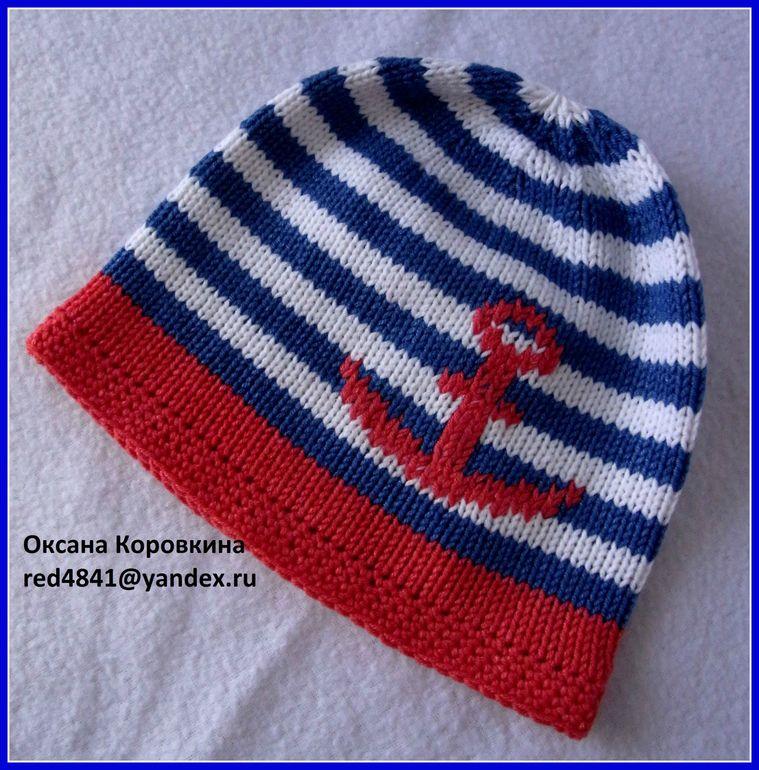 хлопковая  шапочка  на  морскую  тематику)