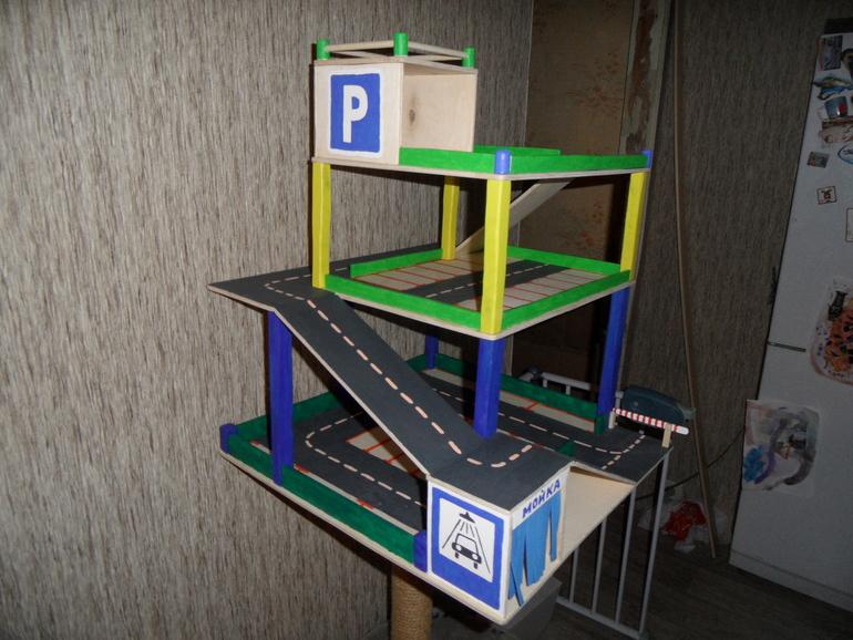 Парковка из коробки для детей своими руками фото 25