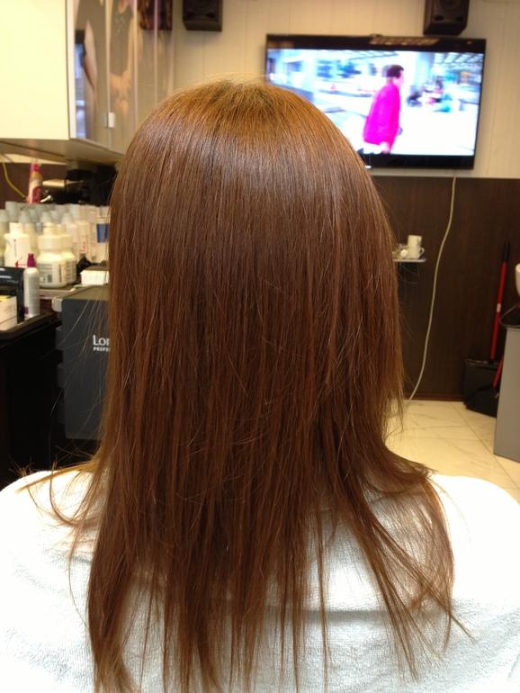 Наращивание  волос  с  эффектом    Омбрэ
