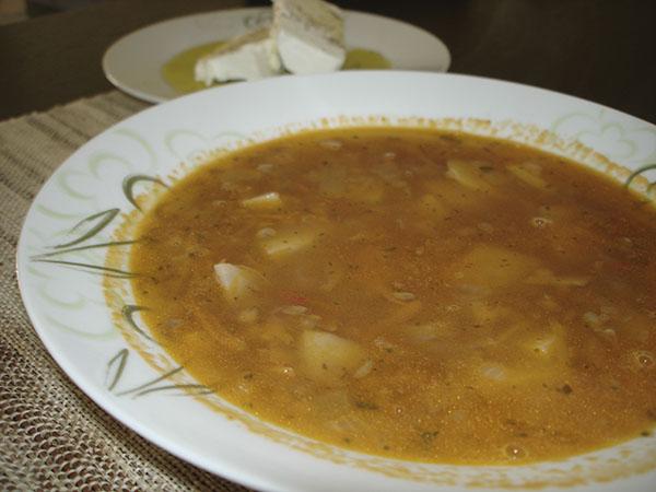 Φακες  -  греческий  чечевичный  суп