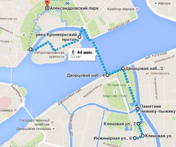 Санкт-петербург где находится чижик пыжик
