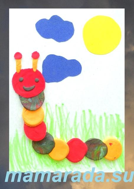 Поделки из пластилина и картона и цветной бумаги 4