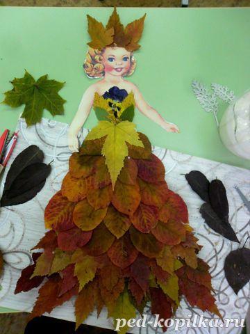 Осенняя принцесса поделки