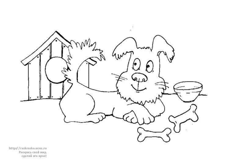 Раскраска будка собаки 106
