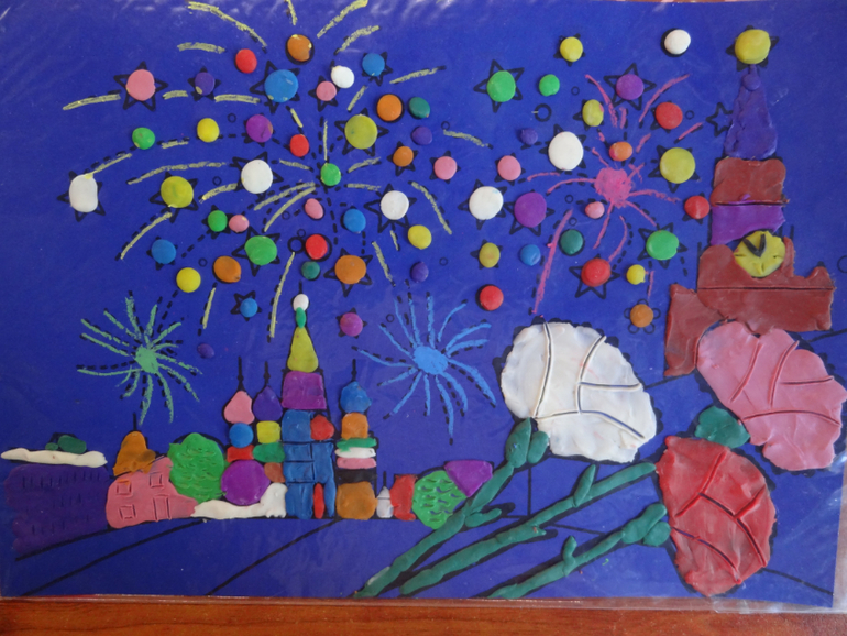 Рисунок своими руками с сад 916