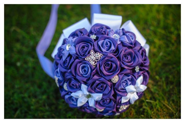 Букет невест из атласных лент своими руками 809