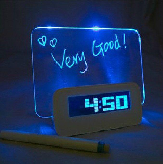 Будильник со светодиодным экраном для сообщений    р 2 дня