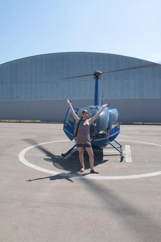 Я летала на вертолете!!!