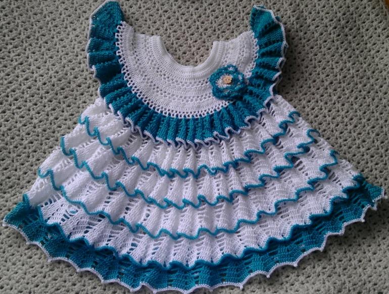 Вязание платья лужок 1 часть 48