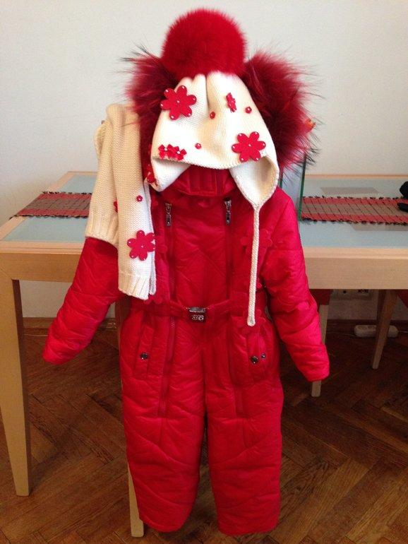 АНОНС: Borelli (Борелли) 3 года, красный слитник, изософт + шапочка и шарф Joli Bebe 6500 р.