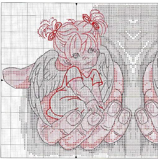 Схема вышивки на руке у бога 162